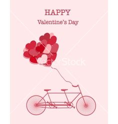 Happy valentines day bicycle background vector - by YasnaTen on VectorStock®