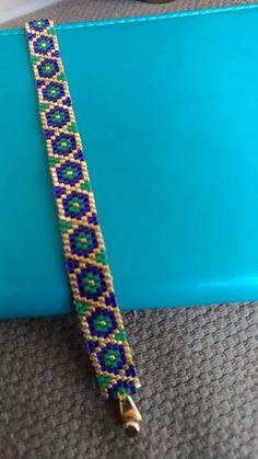 Peyote Patterns, Loom Patterns, Baby Knitting Patterns, Bracelet Patterns, Beading Patterns, Bead Jewellery, Diy Jewelry, Handmade Jewelry, Jewelry Making