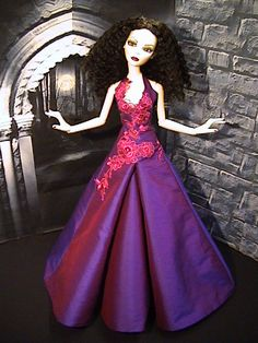Purple ooak dress