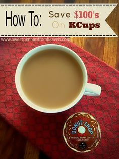 Can't afford those KCups but are too in love with your single cup brewer to stop using it?! I have a solution that will save you HUNDREDS of dollars per year! Hello yummy coffee, bye-bye expensive KCups!!