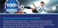 Sportingbet - reload bonus de 80 ron - Ponturi Bune