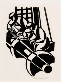 Leonard Beaumont, Grinders, 1932, linocut on paper. Photo © Museums Sheffield by Museums Sheffield, via Flickr