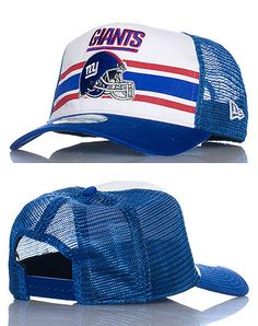 NEW ERA Football snapback cap Adjustable strap on back of hat for ultimate  comfort Embroidered New York Giants team logo on front NEW ERA logo  stitching 01fd07ed3