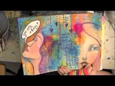 """""""He Loves Me Unconditionally"""" Whimsical Folk Art Mixed Media Painting by Daniella Hawkes - YouTube"""