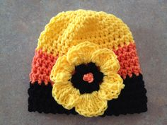 Crochet Halloween Flower Hat
