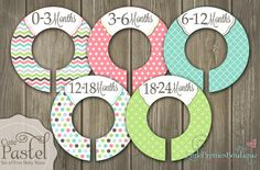 Cute Pastel Baby Closet Organizing Dividers  by PrettiesBoutique22, $12.50