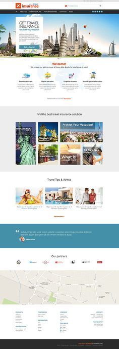 Template 51961 - Your Travel  Responsive Website Template