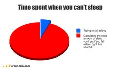 """Wasn't sure which category to put this--maybe under things that I can relate to?  """"Insomnia pie chart"""" ;)"""