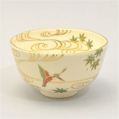 【お取り寄せ】色絵 青楓に翡翠茶碗 相模竜泉作
