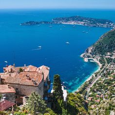 holy-guacamole views from the 'exotic gardens' at the tippy-top of Eze village today (this shot looking west towards the tiny peninsula of cap ferrat) // dreamy is only way to describe it