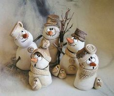 result for pottery suggestions christmas - Diy and craft Snowman Crafts, Christmas Projects, Holiday Crafts, Paper Clay, Clay Art, Clay Ornaments, Christmas Ornaments, Clay Christmas Decorations, Christmas Christmas