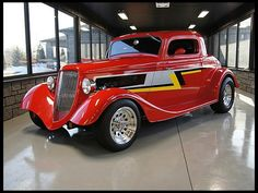 ZZ TOP's Billy Gibbons 1934 Ford 3 Window Coupe Street Rod 302 CI, Fiber lass Body is on the auction block by Mecum Auction..Houston TX.