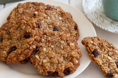 Anzac Biscuits with Almonds and Raisins - Annabel Langbein – Recipes Gluten Free Desserts, Cookie Desserts, Cookie Recipes, Biscuit Cookies, Biscuit Recipe, Recipe Box, Raisin Recipes, Anzac Biscuits, Baking Recipes