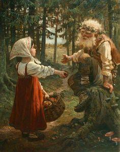 "Photo from album ""Сказки"" on Yandex. Russian Folk, Russian Art, Fantasy World, Fantasy Art, Russian Painting, Medieval Fantasy, Belle Photo, Oeuvre D'art, Art History"