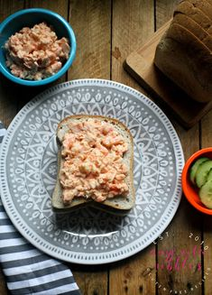 Classic prawn mayo sandwiches served with fresh cucumber on gluten-free bread makes an easy lunch option for gluten-free food on the go! Finger Sandwiches, Easy Food To Make, How To Make Bread, Gluten Free Sandwiches, Gluten Free Recipes, Easy Recipes, Shellfish Recipes, Mayo Sandwich