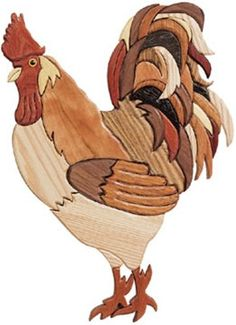 Rooster Intarsia Plan The Rooster Intarsia is sure to add a country feel to your home. This Rooster would look great adding to your homes decor! Make this proud Rooster your next project. Rooster Inta
