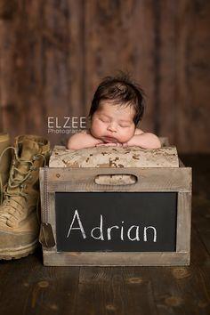 Sneak Peek Handsome Adrian {Miami Newborn Baby Photography South Dade} Newborn military marines dog tags