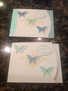 Using the Bliss set from Stampin' Up!