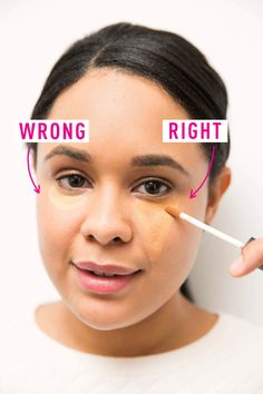 When it comes to concealer, try triangle instead of moon. #makeuptricks #beautyhacks