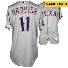 Yu Darvish Texas Rangers Fanatics Authentic Game-Used #11 Gray Jersey vs. New York Mets on July 4, 2014 - $3999.99
