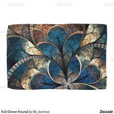 Foil Clover Fractal Kitchen Towel