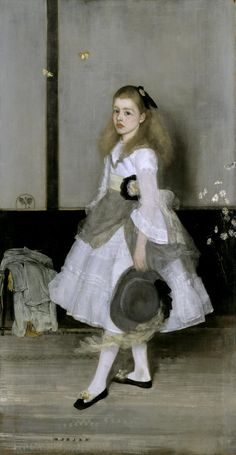 James Abbott McNeill Whistler, 'Harmony in Grey and Green: Miss Cicely Alexander' 1872-4