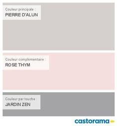 Castorama Nuancier Peinture - Mon harmonie Peinture  PIERRE D'ALUN satin de TOLLENS Elements Cosy Bedroom, Bedroom Decor, Smoker Cooking, Home Staging, Girl Room, House Colors, Home Deco, Sisal, Decorating Your Home