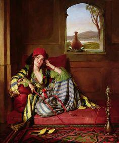 Arabian Girl With Hookah - Egyptian Art - Arabian Art - Handmade Oil Painting On Canvas Arabian Art, Arabian Beauty, Painting Of Girl, Oil Painting On Canvas, Oil Paintings, William Clark, Academic Art, Fire Art, Egyptian Art