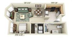 studio apartment plans
