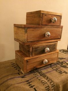 """Very proud of this piece. It's a jewelry/trinket chest. All made from pallet wood, polished and yacht varnished. Made on commission. [symple_box color=""""gray"""" fade_in=""""false"""" float=""""center"""" text_align=""""left"""" width=""""100%""""] Website: The pallet company ! [/symple_box]"""