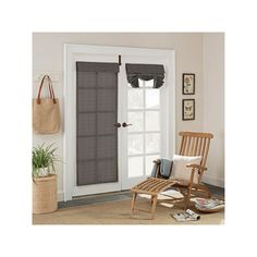 Parasol Key Largo Indoor Outdoor French Door Curtain, Grey