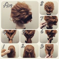 You will find below some amazing hairstyles than you can do by yourself for different occasions. ENJOY <3 ...