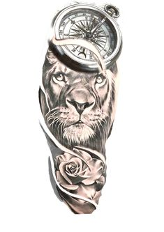 Lion Tattoo Sleeves, Wolf Tattoo Sleeve, Best Sleeve Tattoos, Tattoo Sleeve Designs, Tattoo Designs Men, Lion Tattoo Design, Lion Forearm Tattoos, Dope Tattoos, Head Tattoos