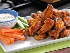 Bobby's Buffalo Wings with Tangy Cheese Dip {Not My Momma's Meals- Bobby Deen}