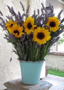 sunflowers and lavender..love these two together.