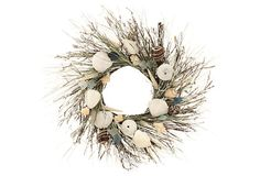 "22"" Sea Glass Beach Wreath, Cream on OneKingsLane.com  LOVE IT!"