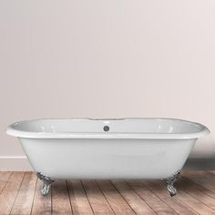 """67"""" Crosby Cast Iron Double-Ended  Clawfoot Tub"""