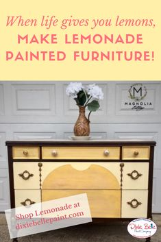 Beau Sweeten Up Your Furniture With A Little Lemonade Chalk Mineral Paint From  Dixie Belle! #