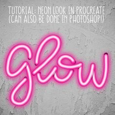 Tutorial: Creating a Neon Look in the Procreate App Tutorial: Neon Look in Procreate Crea Design, App Design, Inkscape Tutorials, Posca Art, Ipad Art, Digital Art Tutorial, Lettering Tutorial, Illustrator Tutorials, Photoshop Tutorial