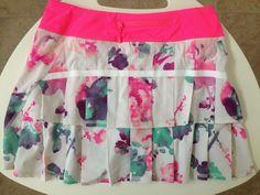Lululemon Pace Setter Skirt Blurred Blossom Floral size 4 Tall EUC #Lululemon #SkirtsSkortsDresses