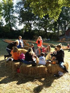 """Priddy Farms 4595 N. Germantown Pkwy, Bartlett, TN  38002 901-359-0800   During the Fall season, Priddy farms is available for booking birthday parties with camp fires and cookouts.  Also, in fall is the annual Pumpkin Patch with hayrides, train, and slide.  The Christmas season brings """"cut you own tree""""  offerings and wreath making classes."""