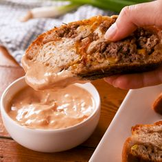 Garbage Bread - Looking for a delicious, indulgent party recipe? This garbage bread is stuffed with all - Good Food, Yummy Food, Tasty, Cheesy Mashed Cauliflower, Dirty Rice Recipe, Recipe For Garbage Bread, Snacks Für Party, Superbowl Party Food Ideas, Tailgating Recipes