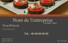 Modle De Carte Visite Professionnelle Et Personnalisable En Ligne Pour Service Traiteur Gastronomique