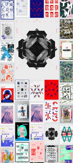 Chaos and Color: Poster Inspiration Board