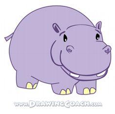 Realistuc Hippo Illustrations | Cartoon Hippo Clipart ...