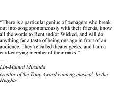 Lin- Manuel Miranda just knows.