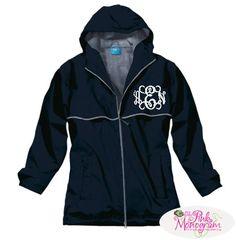 Monogrammed Rain Jacket
