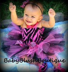Tutu Baby Toddler Hot Pink & Black Zebra Tutu by babyblushboutique, $68.00