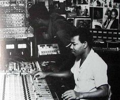 Errol Thompson in Joe Gibbs' control room