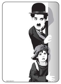 Charlie Chaplin by henstepbatbot on DeviantArt Pop Art Portraits, Portrait Art, Charlie Chaplin, Art Sketches, Art Drawings, Tom Whalen, Joker Film, Charles Spencer Chaplin, Cute Couple Art